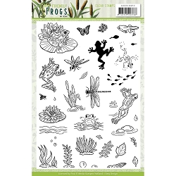 Find It Trading - Amy Design Clear Stamps - Friendly Frogs