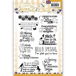 Find It Trading - Precious Marieke Clear Stamps - Early Spring Text