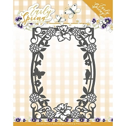 Find It Trading - Precious Marieke Die - Early Spring Flowers Rectangle Frame