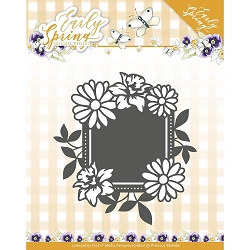 Find It Trading - Precious Marieke Die - Early Spring Flowers Square Label
