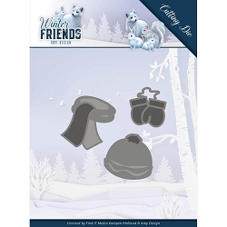 Find It Trading - Amy Design Die - Winter Friends Warm Winter Clothes