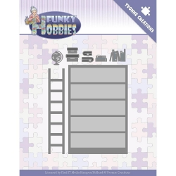 Find It Trading - Yvonne Creations Die - Funky Hobbies Bookcase