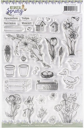 Find It Trading - Amy Design Clear Stamps - Botanical Spring