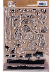 Find It Trading - Amy Design Clear Stamps - Wild Animals Outback