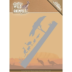 Find It Trading - Amy Design Die - Wild Animals Outback Landscape Border
