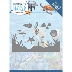 Find It Trading - Amy Design Die - Underwater World Sea Life and Border