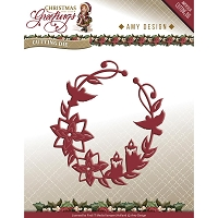 Find It Trading - Amy Design Die - Christmas Greetings Ornament Wreath