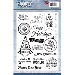 Find It Trading - Jeanine's Art Clear Stamp - Frosty Ornaments Christmas Words