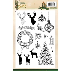 Find It Trading - Precious Marieke Clear Stamps - Christmas In Gold Images