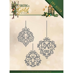 Find It Trading - Precious Marieke Die - Christmas In Gold Ornaments
