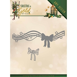 Find It Trading - Precious Marieke Die - Christmas In Gold Bow