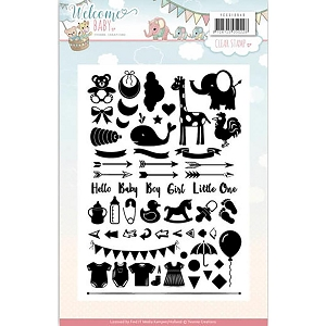 Find It Trading - Yvonne Creations Clear Stamp - Welcome Baby