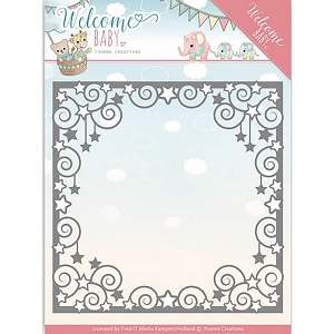 Find It Trading - Yvonne Creations Die - Welcome Baby Star Frame