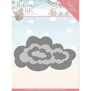 Find It Trading - Yvonne Creations Die - Welcome Baby Nesting Clouds