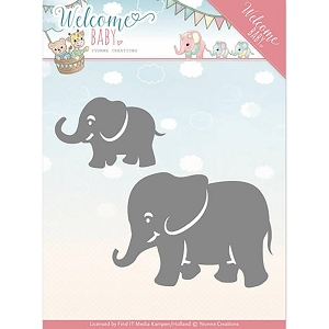 Find It Trading - Yvonne Creations Die - Welcome Baby Little Elephants