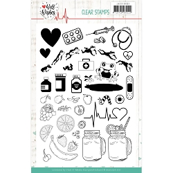 Find It Trading - Jeanine's Art Clear Stamp - Well Wishes