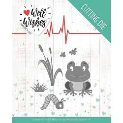 Find It Trading - Jeanine's Art Die - Well Wishes Smiling Frog
