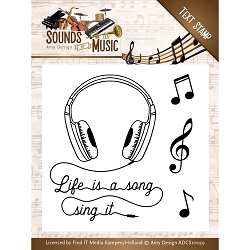 Find It Trading - Amy Design Clear Stamps - Sounds of Music