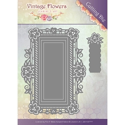 Find It Trading - Jeanine's Art Die - Vintage Flowers Floral Rectangle