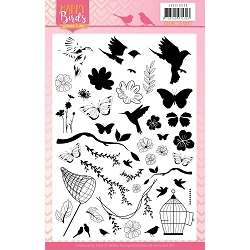 Find It Trading - Jeanine's Art Clear Stamp - Happy Birds