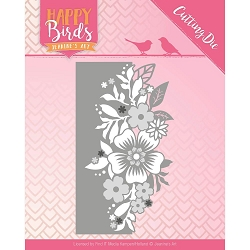 Find It Trading - Jeanine's Art Die - Happy Birds Flower Edge