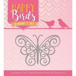 Find It Trading - Jeanine's Art Die - Happy Birds Happy Butterfly
