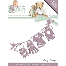 Find It Trading - Amy Design Die - Baby Clothesline