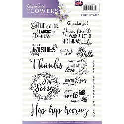 Find It Trading - Precious Marieke Clear Stamps - Timeless Flowers Text