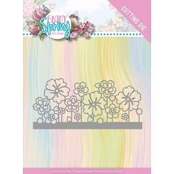 Find It Trading - Amy Design Die - Enjoy Spring Flower Border