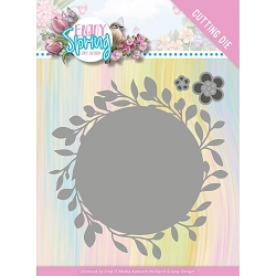 Find It Trading - Amy Design Die - Enjoy Spring Leaf Circle