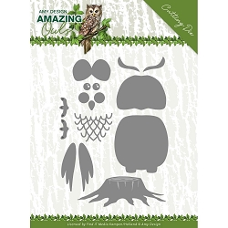 Find It Trading - Amy Design Die - Amazing Owls Build Up Owl