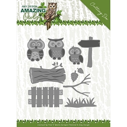Find It Trading - Amy Design Die - Amazing Owls Owl Family