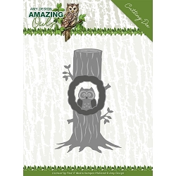 Find It Trading - Amy Design Die - Amazing Owls Owl In Tree