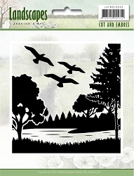 Find It Trading - Jeanine's Art Embossing Folder & Embedded Die - Landscapes