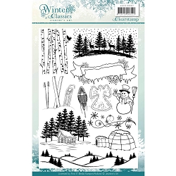 Find It Trading - Jeanine's Art Clear Stamps - Winter Classics