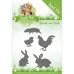 Find It Trading - Amy Design Die - Sweet Pet Rodents and Birds