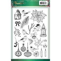 Find It Trading - Jeanine's Art Clear Stamp - Christmas Flowers