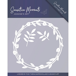 Find It Trading - Jeanine's Art Die - Sensitive Moments Leaf Circle