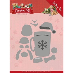 Find It Trading - Amy Design Die - Christmas Pets Christmas Dog