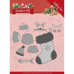 Find It Trading - Amy Design Die - Christmas Pets Christmas Cat