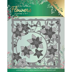Find It Trading - Jeanine's Art Die - Christmas Flowers Poinsettia Frame