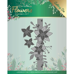 Find It Trading - Jeanine's Art Die - Christmas Flowers Poinsettia Border