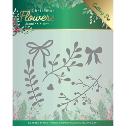 Find It Trading - Jeanine's Art Die - Christmas Flowers Mistletoe