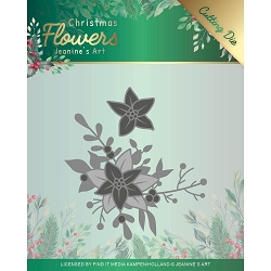 Find It Trading - Jeanine's Art Die - Christmas Flowers Poinsettia Corner