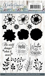Find It Trading - Precious Marieke Clear Stamps - Winter Flowers Hello Winter