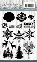 Find It Trading - Precious Marieke Clear Stamps - Winter Flowers Winter Wonderland
