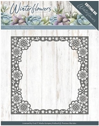 Find It Trading - Precious Marieke Die - Winter Flowers Snowflake Flower Frame