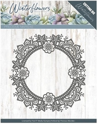 Find It Trading - Precious Marieke Die - Winter Flowers Ice Flower Circle
