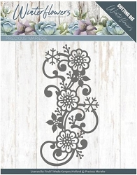 Find It Trading - Precious Marieke Die - Winter Flowers Snowflake Flower Swirl