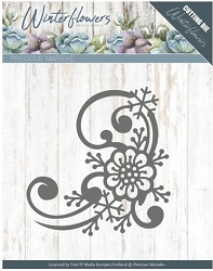 Find It Trading - Precious Marieke Die - Winter Flowers Snowflake Flower Corner
